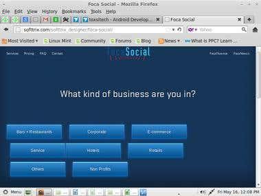 Website design/develop- Focal Social