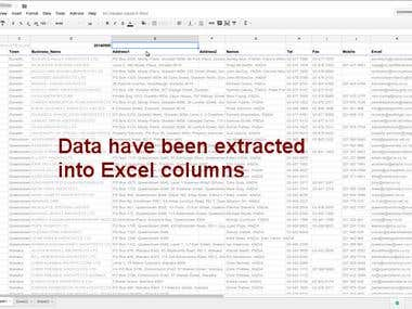 Extract PDF Directory to Excel - Names, Addresses, Email ...