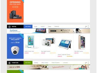 Online shopping system by Woo commerce.