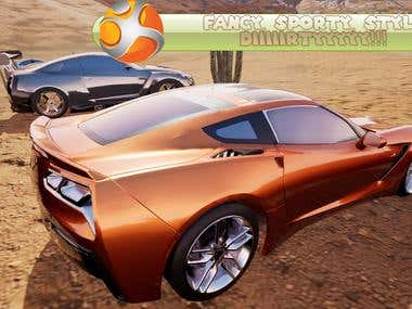 Super cars from Unreal Engine 4 for PC game on Steam