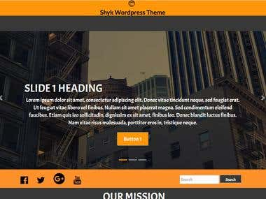 Responsive Wordpress Theme using bootstrap