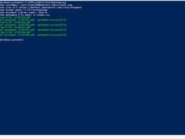 Powershell to Upload Files to Office 365