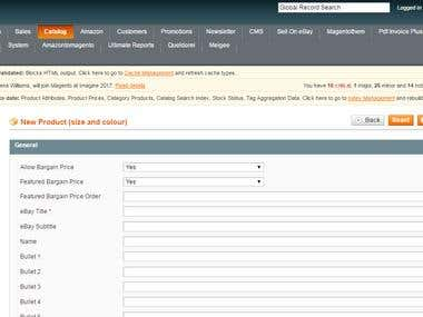 eCommerce Product Entry via Magento
