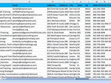 Email Search and Data Entry