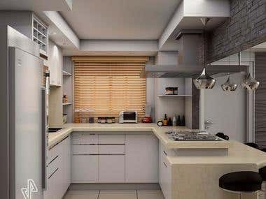 Kitchen design for customer