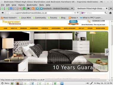 Website design/develo- Bedrooms and Wardrobe website