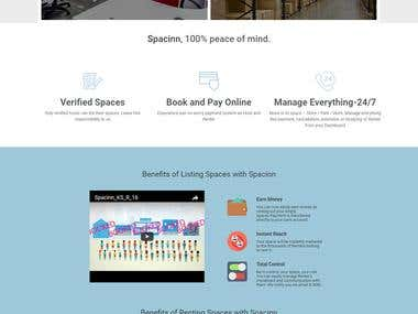 Online space renting system