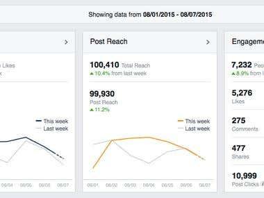 Facebook Weekly Statistic Screenshot