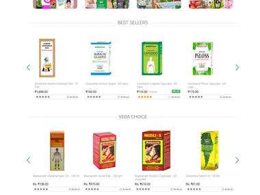 Online Ayurveda product selling system.
