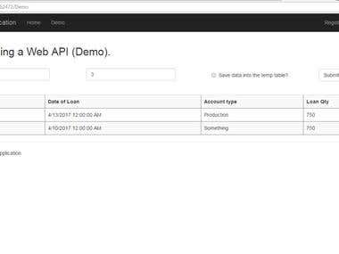 ASP.NET web api and web form application.
