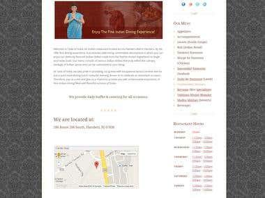 Indian Restaurant Website