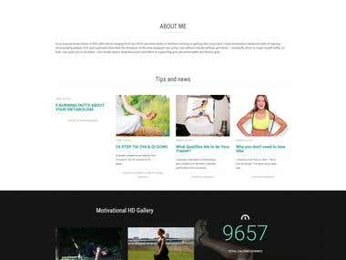 Training and Fitness Coaching website