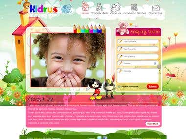 Kids Play School Website Indian Client