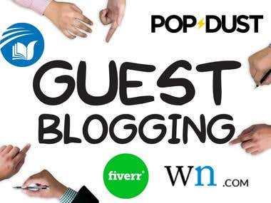 I can provide you 3 guest post on DA 50+ sites