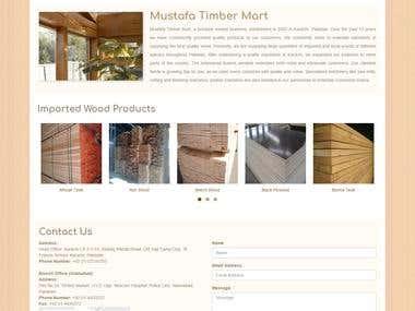 Mustafa Timber Portfolio Website