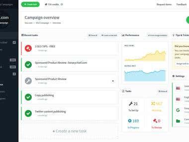 DOZ App - Webmarketing Platform