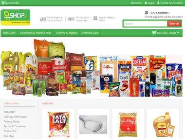 oshop.in - opencart based grocery store