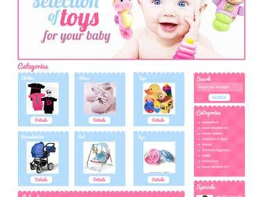 Baby Products Website