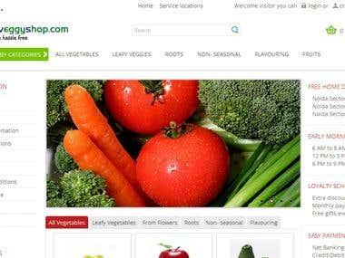 myveggyshop - opencart based online store