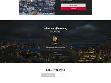 Homepage design for an australian Real Estate Agency