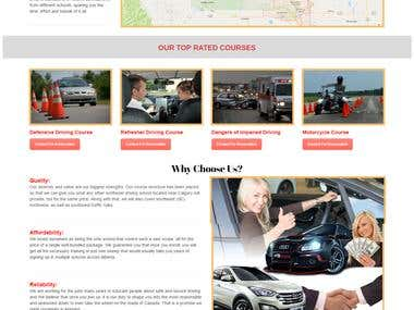 Wiz Driving School Site with Online Reservation System