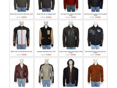 E-Commerce Shop of Leather Jackets