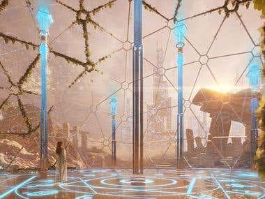 3D environment concept art