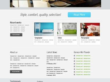 Interior Designing Website