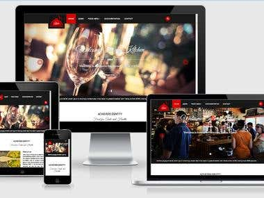 A modern restaurant website