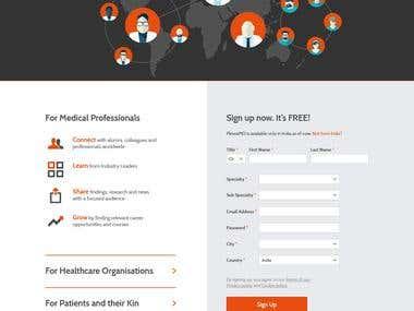Landing Page for Doctor Socia Media