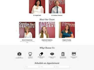 Dentist website in wordpress