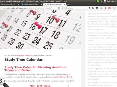 Wordpress Google Calender Plugin customization