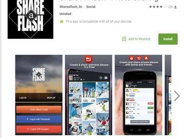 Android App - Share a Flash