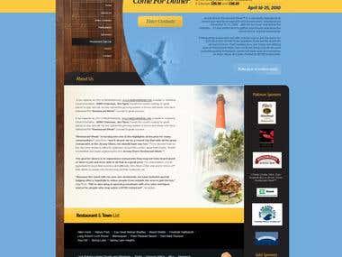 Jersey Shore restaurant website in wordpress