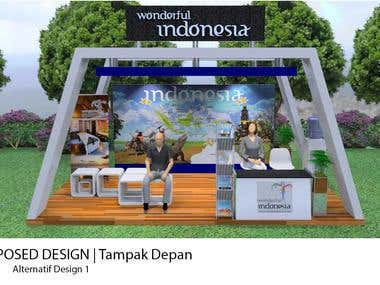 Various design for Indonesia Ministry of Tourism