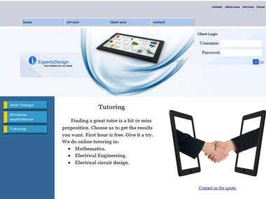 IT and Tutoring Website
