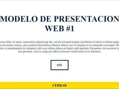 MODELO DE PRESENTACIÓN WEB