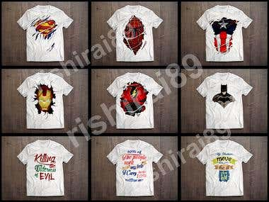 SUPERHERO AND QUOTES T-SHIRTS