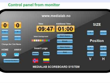 Windows and Mac Software Football scoreboard system