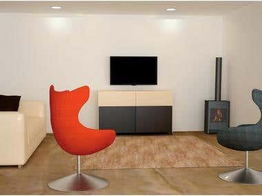 3d Interior work