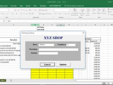 Accounting Ledger, Excel VBA