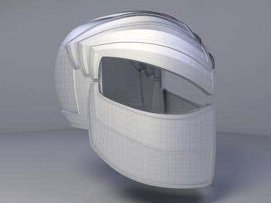 3d model of the helmet
