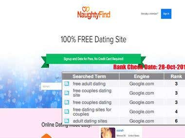 Top 5 for dating website