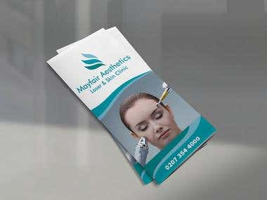 Brochure Design For Mayfair Aesthetics