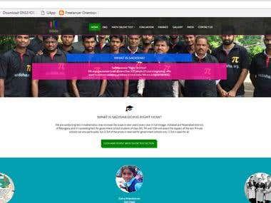 A website for Non-Profit organization