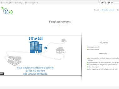 Waste management company website