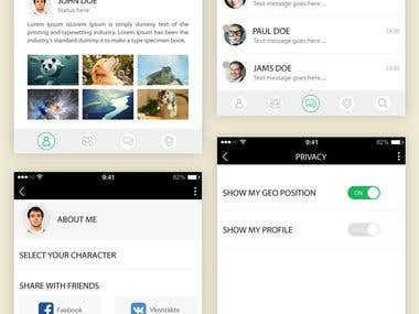 Friend finder on map Mobile APP design UI/UX