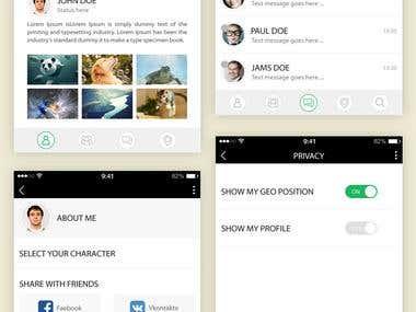 Friend finder on map Mobile APP design UI/UX