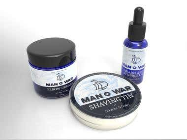 Beard oil & wax banding