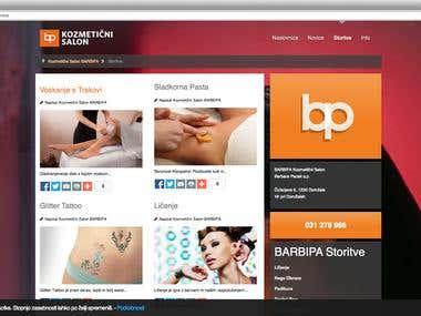 Website For BARBIPA Kozmetični Salon BARBIPA